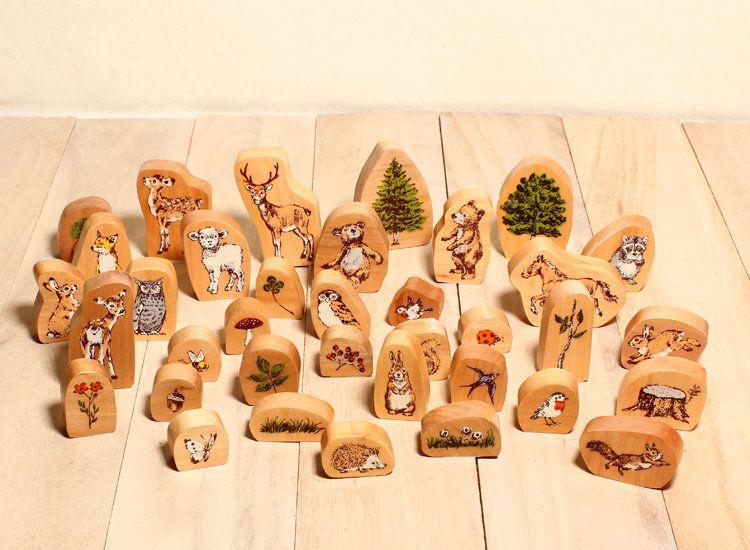 日本 Kodomo 印章 森林系 寫實動物