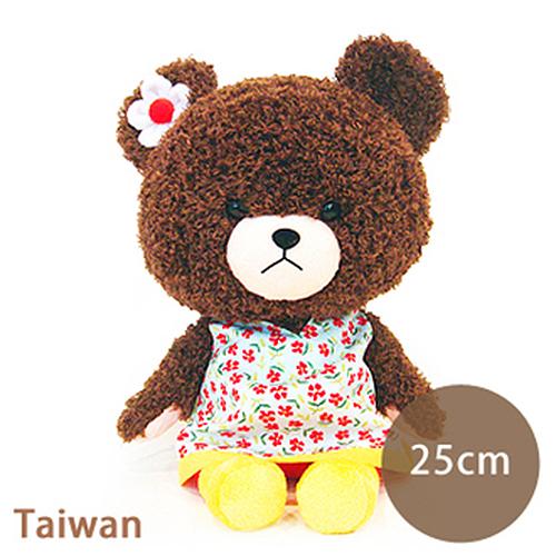 BearSchool 小熊學校 台版 Jackie熊 玩偶  中  黃色洋裝