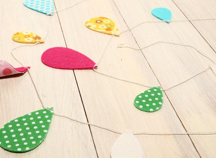 日本 Everyday 鄉村風 造型布旗 水滴