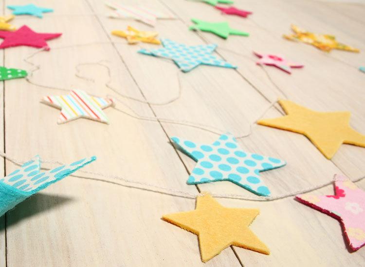 日本 Everyday 鄉村風 造型布旗 星星