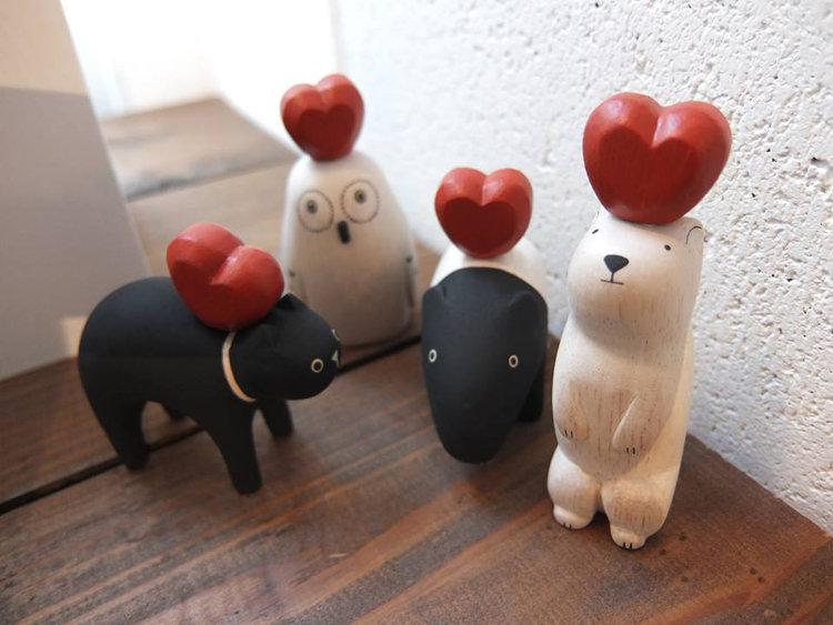 日本 T-Lab 木作 手工 小動物  純色小動物