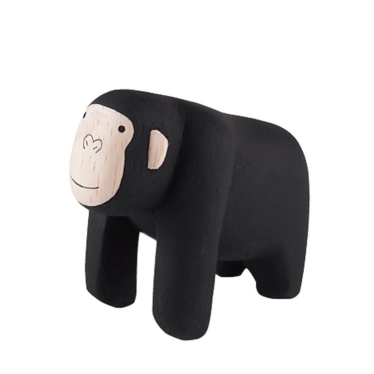 日本 T-Lab 木作 手工 純色 小動物  黑猩猩