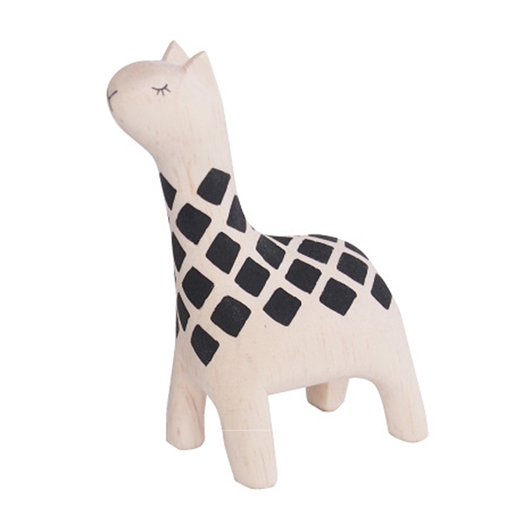 日本 T-Lab 木作 手工 純色 小動物  長頸鹿