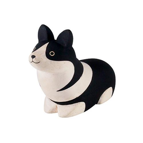 日本 T-Lab 木作 手工小動物  柯基犬