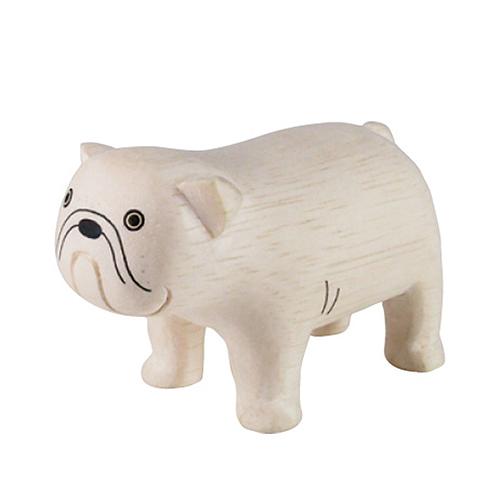 日本 T-Lab 木作 手工小動物  鬥牛犬