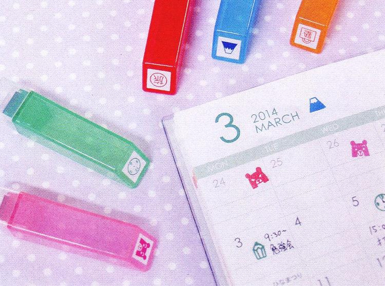 日本 kodomo 螢光印章 說明
