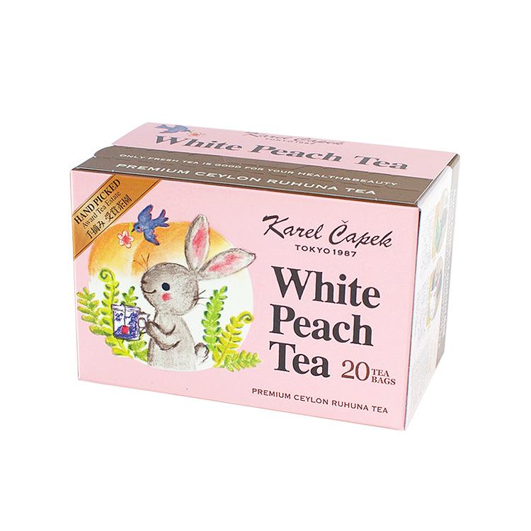 Karel Capek 山田詩子紅茶店 小包裝 小茶包 20P  白桃紅茶 紙包裝 優惠組 卡雷爾恰佩克