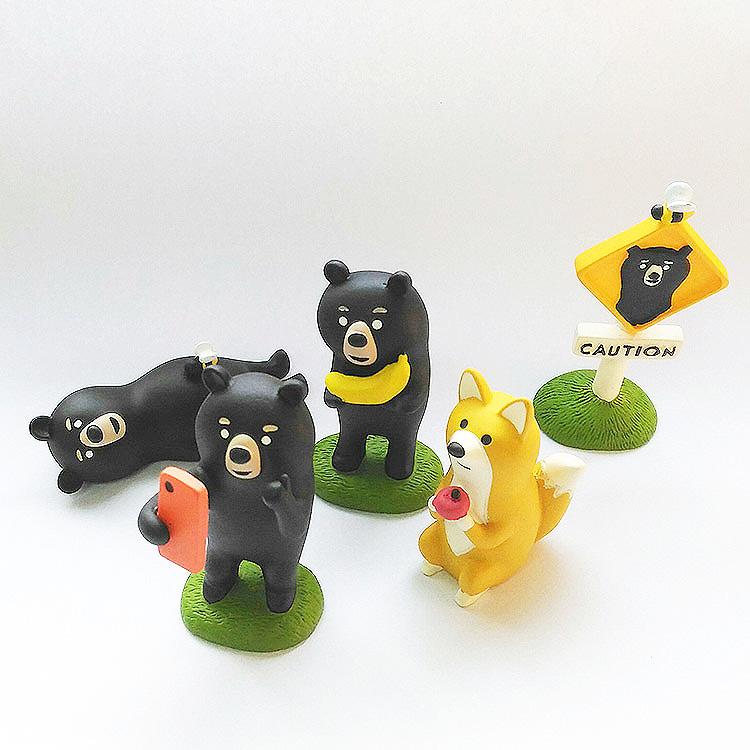 日本 Decole 森林動物 小擺飾 Pattern Safari 狩獵隊 雜貨 黑熊 狐狸 老虎