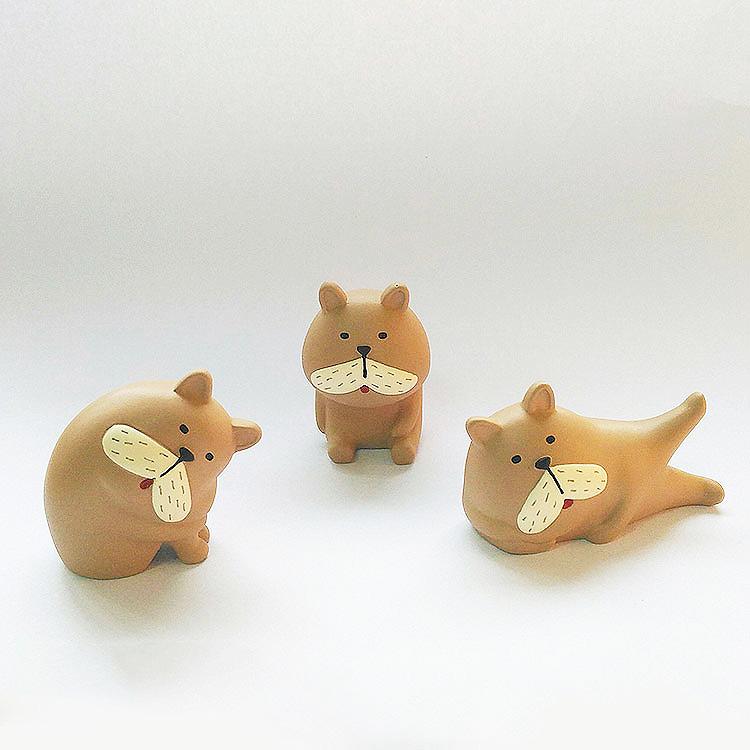 日本 Decole 森林動物 小擺飾 Pattern Safari 狩獵隊 雜貨 鬥牛犬 哈巴狗