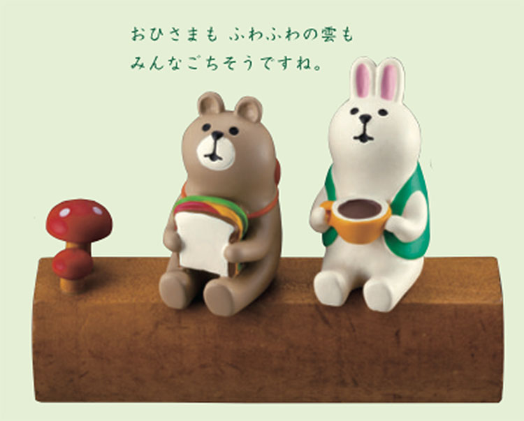 日本 Decole 溫柔動物 野餐 小擺飾 Pattern Safari 狩獵隊 雜貨 兔 熊
