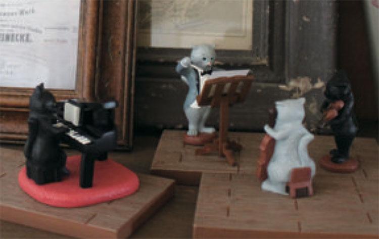 日本 Decole 雜貨 小擺飾 優雅貓咪 品紅酒 沙發  Pattern Safari 狩獵隊 公仔