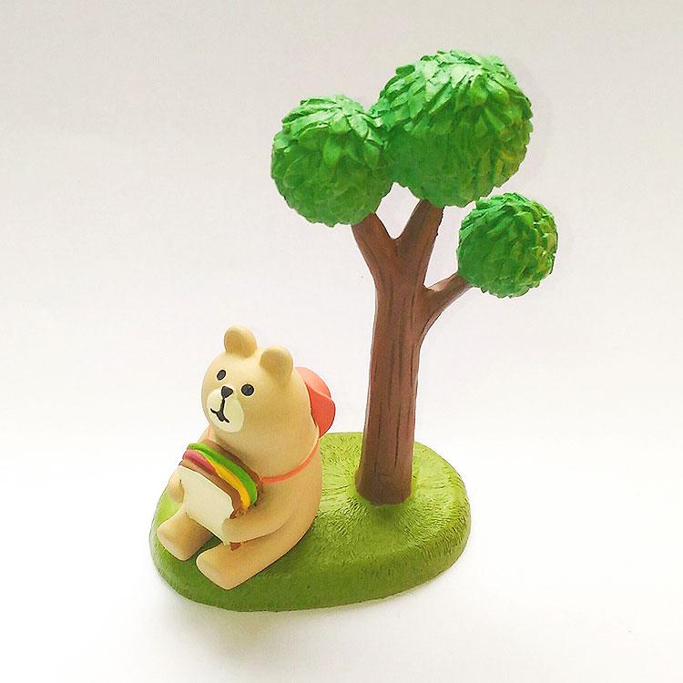 日本 Decole 雜貨 小擺飾 週邊 樹 Pattern Safari 狩獵隊 公仔