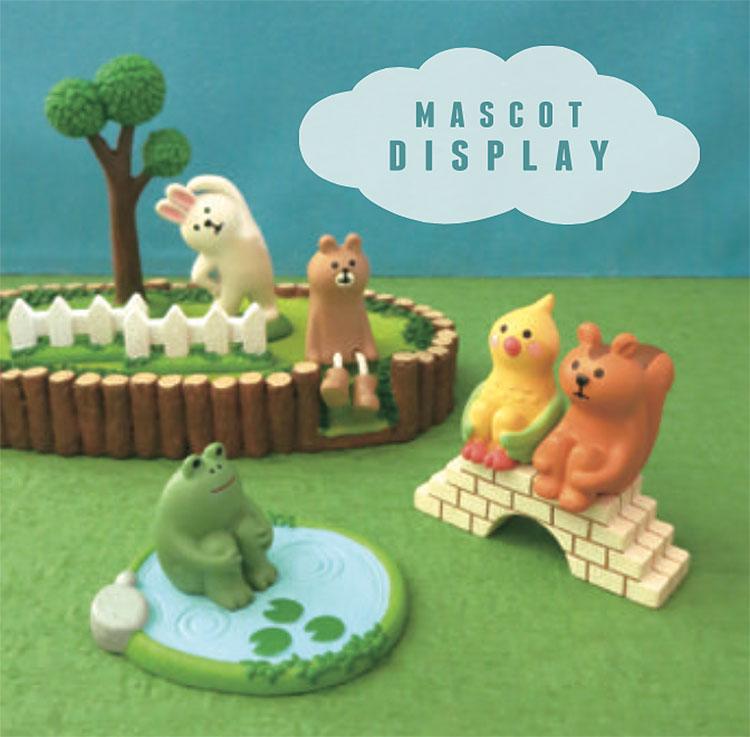 日本 Decole 雜貨 小擺飾 週邊 小草 圓形 底座 Pattern Safari 狩獵隊 公仔