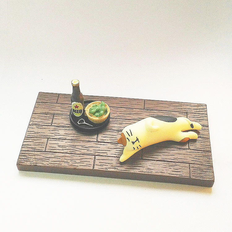 日本 Decole 雜貨 小擺飾 週邊 木質地板 Pattern Safari 狩獵隊 公仔