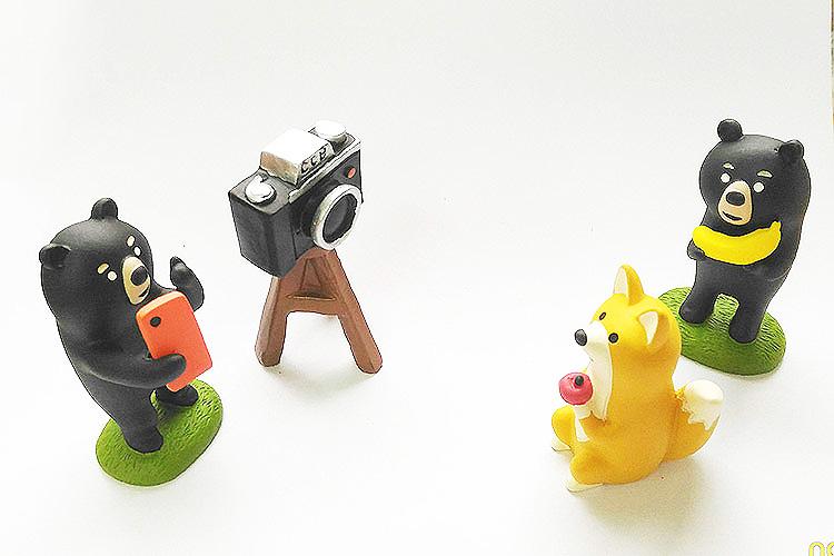 日本 Decole 雜貨 小擺飾 週邊 單眼相機腳架 Pattern Safari 狩獵隊 公仔