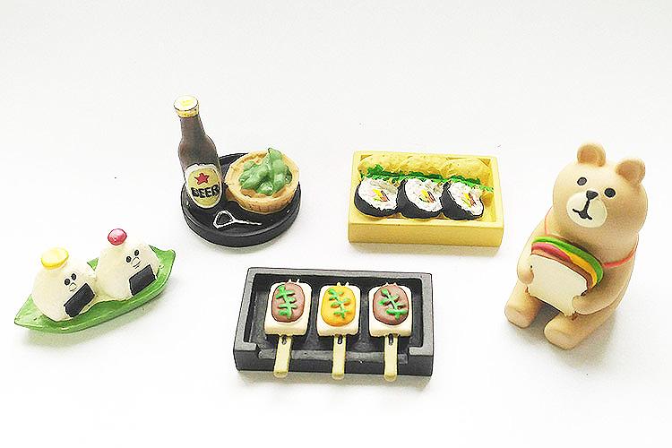 日本 Decole 雜貨 小擺飾 週邊 烤麻吉 飯糰 便當 啤酒  Pattern Safari 狩獵隊 公仔